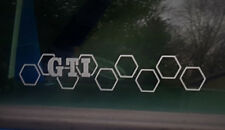 Aufkleber GTI Waben Golf 4 5 6 7 Auto Style Sticker Tuning JDM Gravur  vag Turbo