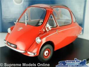HEINKEL KABINE MODEL BUBBLE CAR 1:18 SCALE OXFORD 18HE002 RED 3 WHEEL TROJAN K8