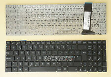 NEW FOR ASUS N76VB N76VJ N76VM N76VZ R514J R514JR Keyboard Nordic no frame Black