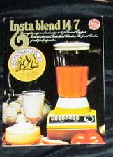 GE Insta Blend 14/7 Instructions & Recipes Booklet Retr