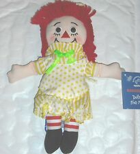 "NEW Raggedy Ann - ""Doll of the Month"" AUGUST wearing Yellow Dress Applause NEW"