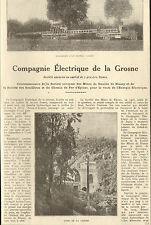 71 CIE ELECTRIQUE DE LA CROSNE HOUILLE DE BLANZY PUBLI-REPORTAGE 1924