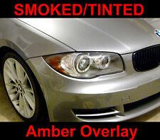 BMW 1 Series Headlight Overlay Eyelid Amber Removal Smoked Tinted 128i 135i 1M