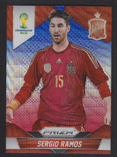 Panini Prizm Coupe du Monde 2014-BASE Nº 172 Sergio Ramos-Red Blue Wave