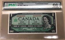1967 Bank of Canada Centennial $1 BC-45b-i PMG Gem Unc. 66 EPQ - No Reserve