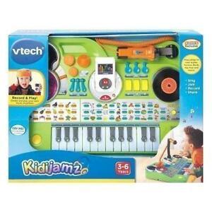 VTech KidiJamz Keyboard Green Recording Studio DJ Music Songs New Ages 3-6 Years