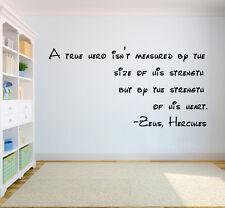 Zeus Hercules Words Wall Decor Walt Disney Word Quote Wall Vinyl Decal q11