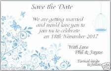 100 Save the Date Wedding Cards - Butterfly Design with Birdcage with Envelopes