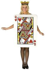 LADIES QUEEN OF HEARTS FANCY DRESS COSTUME POKER DECK OF CARD GAME WOMENS OUTFIT
