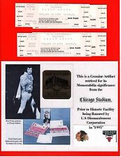 NADIA COMANECI 4 tickets from 1977 at Old Chicago Stadium!!