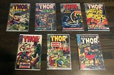 THE MIGHTY THOR LOT OF 7 SILVER AGE COMICS Stan Lee Jack Kirby #132 King-Size #2