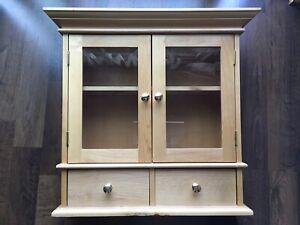 CHARTER BATHROOM WALL Medicine Cabinet Storage Shelf Espresso Vanity