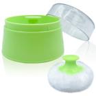 """Bpa Free Baby Powder Puff Box, Large 2.8"""" Fluffy Body After-Bath Powder Case, Ba"""