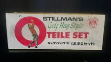Extremely Rare Vintage Stillman's Golf Bag Style Teile Set Collectable Gag Gift