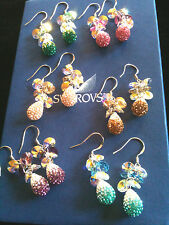 BNIB GENUINE AUTHENTIC SWAROVSKI FLOATING CRYSTALS PAVE DISCO DANGLE EARRINGS