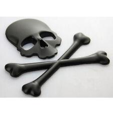 Car Truck 3D Metal Skull Head Logo Modified Emblem Sticker Decal Accessories Set