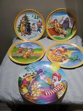 "Vintage Set of 4 Ronald McDonald's 1977 Seasons Plates 10"" & 1 From 1993"