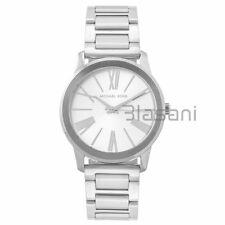 Michael Kors Original MK3489 Unisex Hartman Silver Stainless Steel Watch 38mm