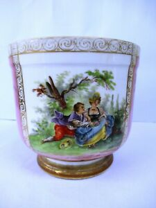 "Antique Dresden Porcelain Germany Planter porcelain Carl Tielsch Altwasser C.T""F"