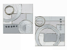 exclusiva Diseñador Mural de madera con aluminio PLATA 40 x 40cm