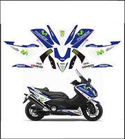 kit adesivi stickers compatibili  tmax 2012 2014 530 m1 movistar moto gp