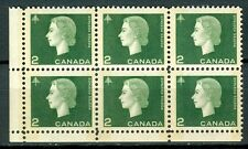 Canada #402pii 402ii Corner Block 6 LL Cameo Wide Narrow Tag Bars MNH