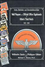 Amts-Behörden und Dienststellenschilder 1933-45 Emailschilder Katalog Saris Buch