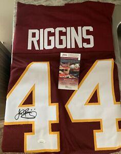 John Riggins Autograph Washington Redskins Custom Jersey JSA Witness COA