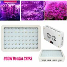 600W 2Chips LED Grow Light Full Spectrum Metal Case 2Fans For Bloom Plant U7Y1T