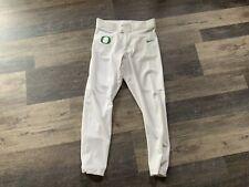 Oregon Ducks NCAA Nike Baseball Pants Size L White NWOT