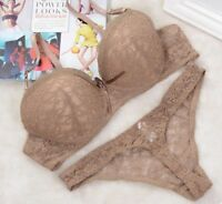 Underwire Bra And Thong Set Sexy Underwear Women Lace Lingerie Push Up Brassiere