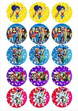 Edible Cupcake Toppers dc superhero GIRLS - Highest Australian Quality