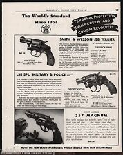 1947 Smith & Wesson .38 Terrier, Military & Police, .357 Magnum Revolver Ad