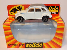 SOLIDO MADE IN PORTUGAL 1980 CITROEN 2CV 6 BLANCHE REF 1210 1/43 IN BOX