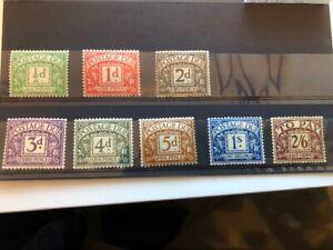 1936 - 1938 Full Set Unmounted Mint - SGD19-D26 or D27-D34