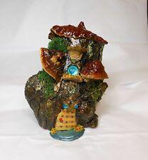 Fairy/Ghome/Hobbit House-Mushroom Fairy House-OOAK-Mushrooms/Polymer Clay