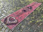Wool rug, Bohemian rugs, Runner rug, Handmade rug, Turkish rug | 1,9 x 8,8 ft