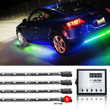 8pc Car Underbody Interior Truck ATV Glow LED Light Kit Music Mode 129 Patterns