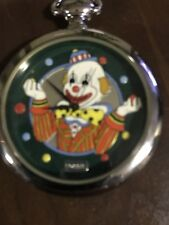 Fossil Pocket Watch Clown Limited Edition Stainless Gold Water Resist Quartz