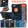 For Apple iPhone X/6s/8/7 Plus Armor Heavy Duty Shockproof Case (Belt Clip fits)
