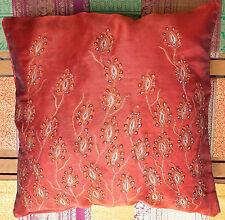 Kissenhülle Dekokissen Kissenbezug weinrot 40x40 indisch Sari Indien Bollywood A