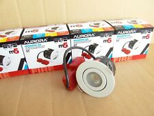 Lot of 4,Aurora LED M5 Adjustable Down Light.Matte White.4000K.Dimmable.5w