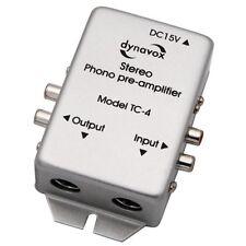 per Giradischi con Mm-Abtast-Systemen Dynavox TC-20 Phono-Vorverst/ärker Nero Compatto Custodia Alluminio