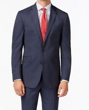 Kenneth Cole Reaction Men's Slim-Fit Navy Ministripe,Blazer/ Coat, Size: 42R