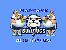 MANCAVE BEER BELLY'S WELCOME TIN SIGN
