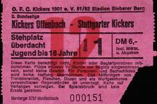Ticket II. BL 81/82 Kickers Offenbach - Stuttgarter Kickers, 28.04.1982