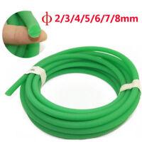 Round Urethane Drive Belt Diameter 2/3/4/5/6/8/10mm Rough Surface Green 1M