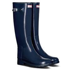 Hunter Navy Tall Gloss Boots,m Size UK 3, BNIB, Box Damage, (I)