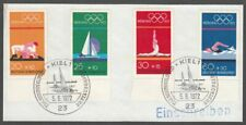 *1p SALE* Germany - West, 1972 Olympic Games. SG 1621-4 Fine Used on Piece