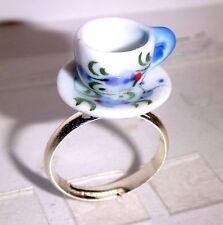 Ring Tasse Kawaii Damen Modeschmuck Ringe größenverstellbar Keramik